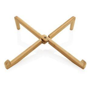 Bambusowy stojak na laptopa lub tablet z nadrukiem logo