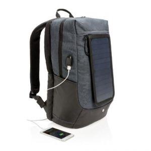 Reklamowy plecak na laptopa Swiss Peak Eclipse, ładowarka słoneczna